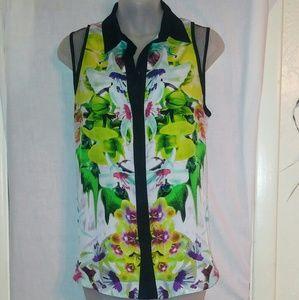 New Prabal Gurung Sleeveless button up blouse
